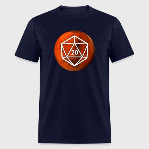 Mars Astronomy d20 Space Dice - Men's T-Shirt