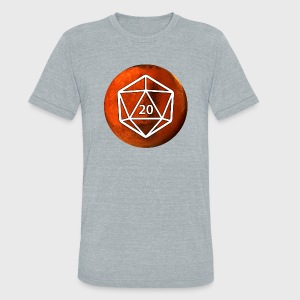 Mars Astronomy d20 Space Dice - Unisex Tri-Blend T-Shirt by American Apparel