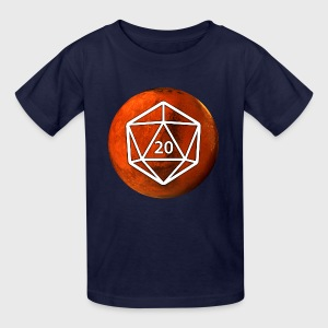 Mars Astronomy d20 Space Dice - Kids' T-Shirt