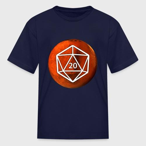 Mars Astronomy d20 Space Dice - Kids' T-Shirt