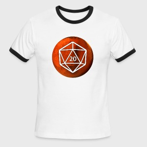 Mars Astronomy d20 Space Dice - Men's Ringer T-Shirt