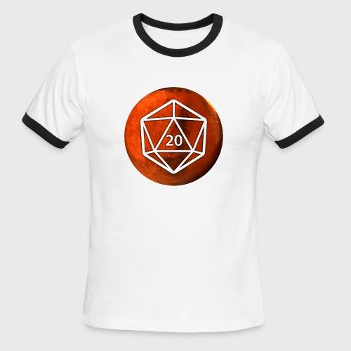 Mars Astronomy d20 Space Dice - Men's Ringer T-Shirt