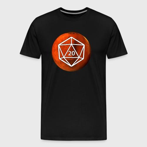 Mars Astronomy d20 Space Dice - Men's Premium T-Shirt