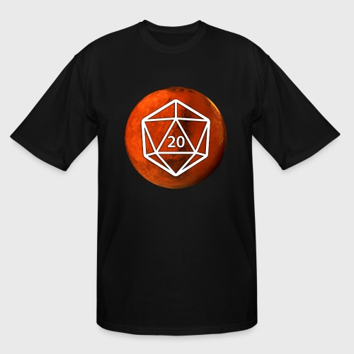 Mars Astronomy d20 Space Dice - Men's Tall T-Shirt