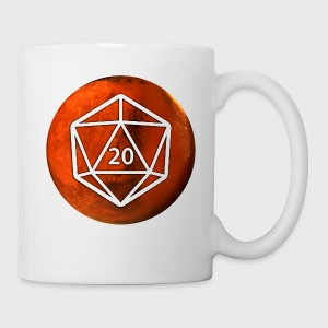 Mars Astronomy d20 Space Dice - Coffee/Tea Mug