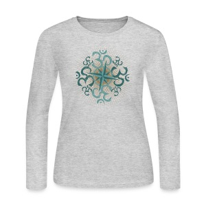 Womens Vintage Namaste Long T - Heather - Women's Long Sleeve Jersey T-Shirt