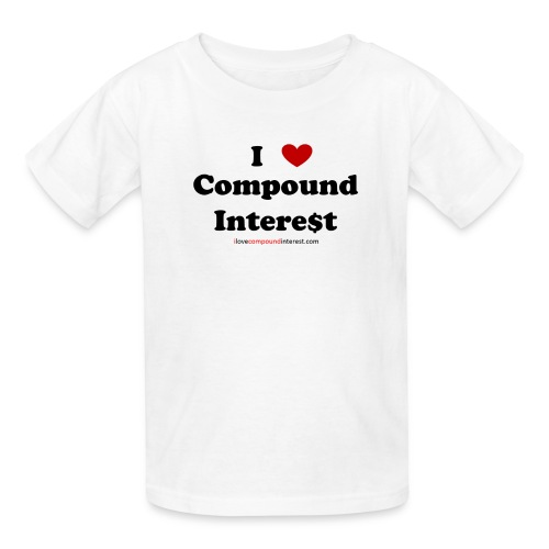 I love compound interest t-shirt - Kids' T-Shirt