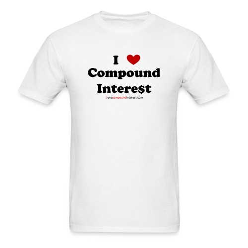 I love compound interest t-shirt - Men's T-Shirt