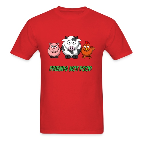Friends not food t shirt - Men's T-Shirt
