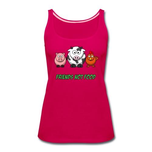 Friends not food women's tank - Women's Premium Tank Top