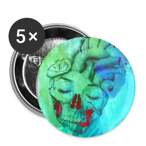 Large Buttons - watercolor,spooky,skull,scary,october,heart,halloween,fall,design,dark,clothing,button,art