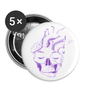 Large Buttons - spooky,skull,scary,october,heart,halloween,fall,design,dark,clothing,art