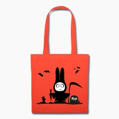 halloween rabbit bat bunny grave horror Bags & backpacks