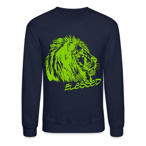 Blessed Lion_Men's Sweat-Shirt - Crewneck Sweatshirt