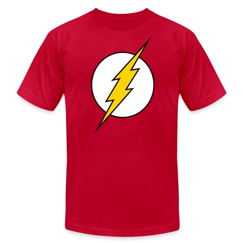 The Flash Lightning Bolt - AA Red Tee - Men's Fine Jersey T-Shirt