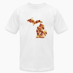 Michigan Shaped Pizza Parody Humor Funny Shirt Tee T-Shirts