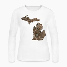 Michigan Petoskey Stone Cute Funny Pure Apparel  Long Sleeve Shirts