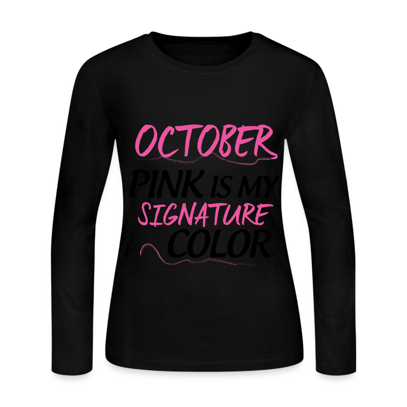 OCTOBER PINK - Women's Long Sleeve Jersey T-Shirt