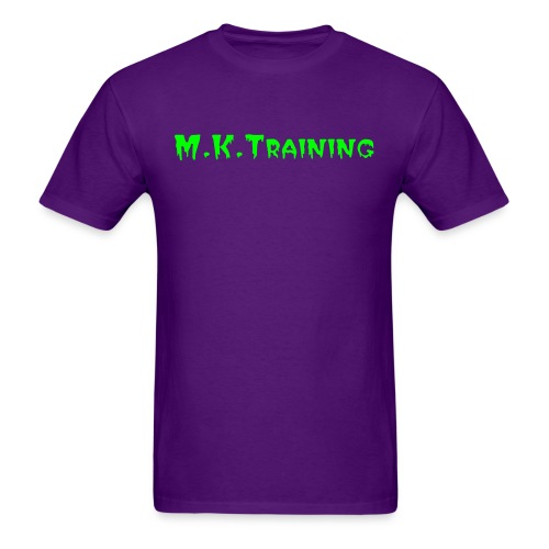 M.K.Training Basic Mens T-Shirt (Purple) - Men's T-Shirt