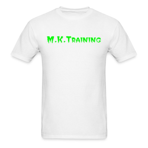 M.K.Training Basic Mens T-Shirt (White) - Men's T-Shirt