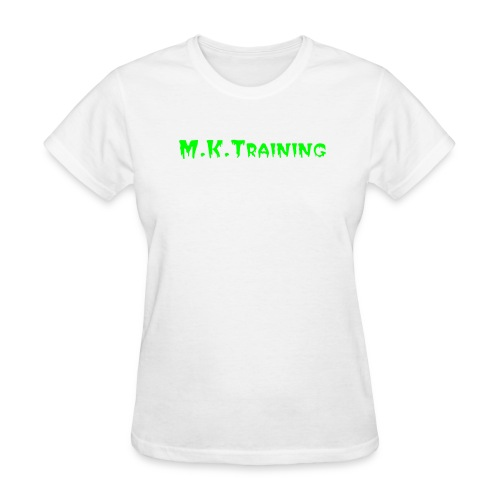 M.K.Training Basic Womens T-Shirt (White) - Women's T-Shirt