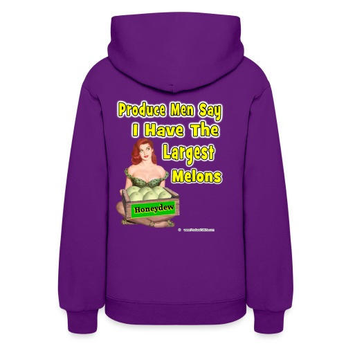 Largest Melons (back) - Women's Hoodie