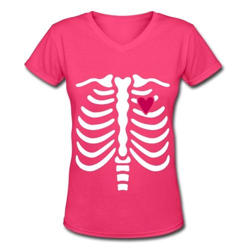 Cute Halloween Tee - Women's V-Neck T-Shirt