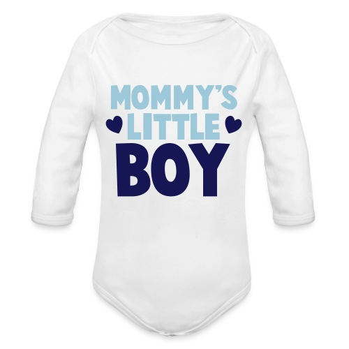 Mommy's Little Boy - Organic Long Sleeve Baby Bodysuit