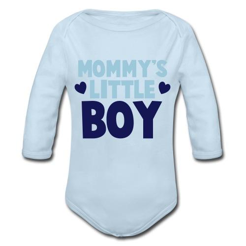 Mommy's Little Boy - Organic Long Sleeve Baby Bodysuit