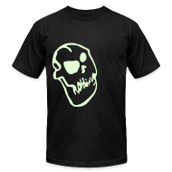 T-Shirts ~ Men's T-Shirt by American Apparel ~ Nothing Skull (Glow in the Dark)