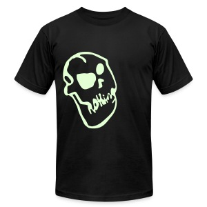Nothing Skull (Glow in the Dark) - Men's T-Shirt by American Apparel