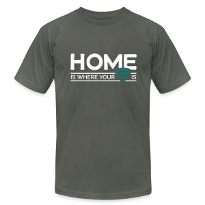 home is where … wi-fi - Men's T-Shirt by American Apparel