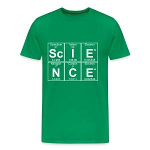 The building blocks of Sc-I-E-N-C-E (science) - Men's Premium T-Shirt