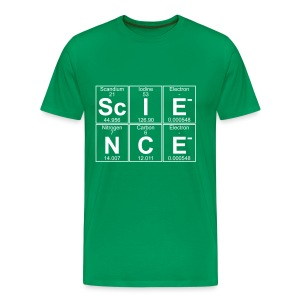 The building blocks of Sc-I-E-N-C-E (science) - Men's Premium T-Shirt