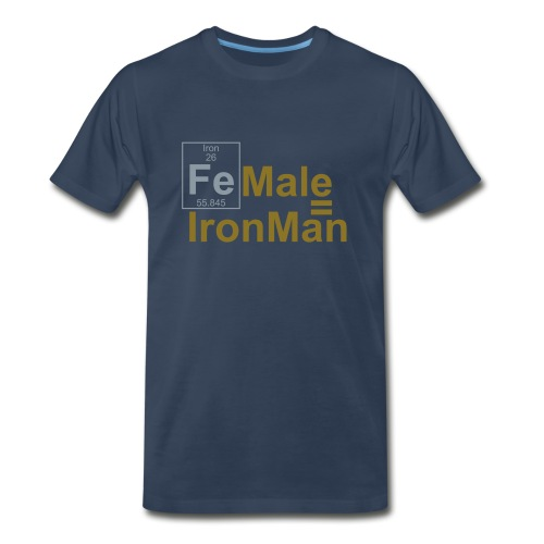 FEmale is IronMan (2 colours) - Men's Premium T-Shirt
