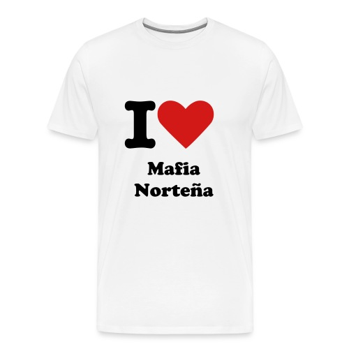 i love mafia nortena - Men's Premium T-Shirt