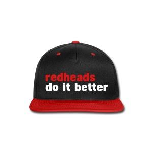 RED HEADS DO IT BETTER - Snap-back Baseball Cap
