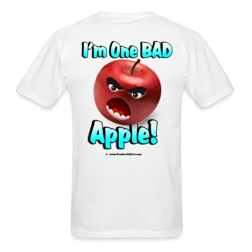 One Bad Apple (back) - Men's T-Shirt