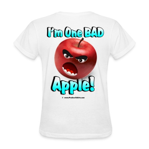 One Bad Apple (back) - Women's T-Shirt