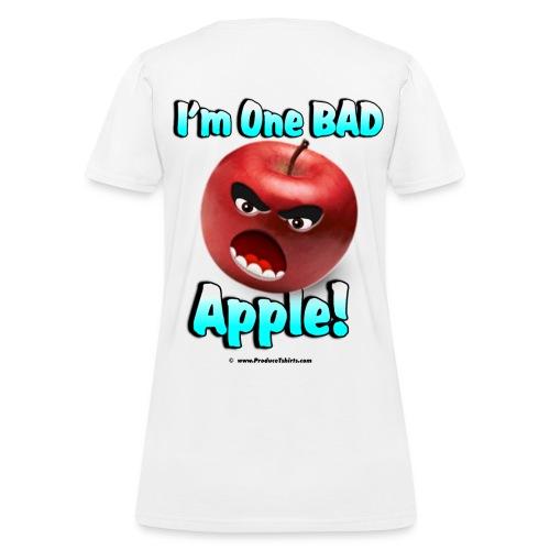 One Bad Apple (back) - Women's T-Shirt
