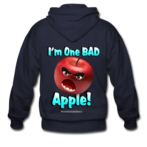 One Bad Apple (front) - Men's Zip Hoodie