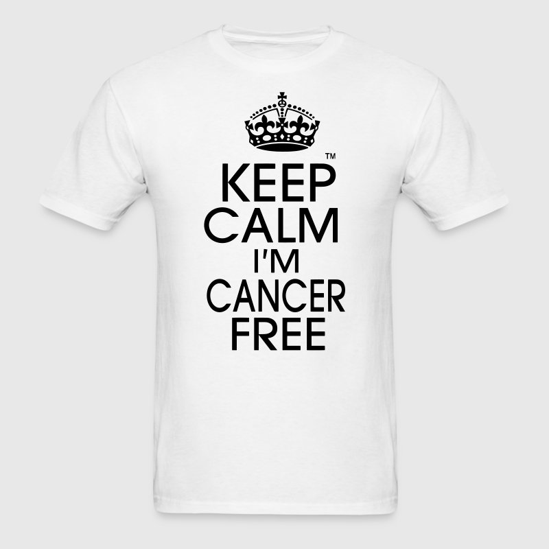 KEEP CALM I'M CANCER FREE T-Shirts - Men's T-Shirt