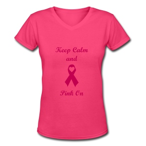Pink On - Women's V-Neck T-Shirt