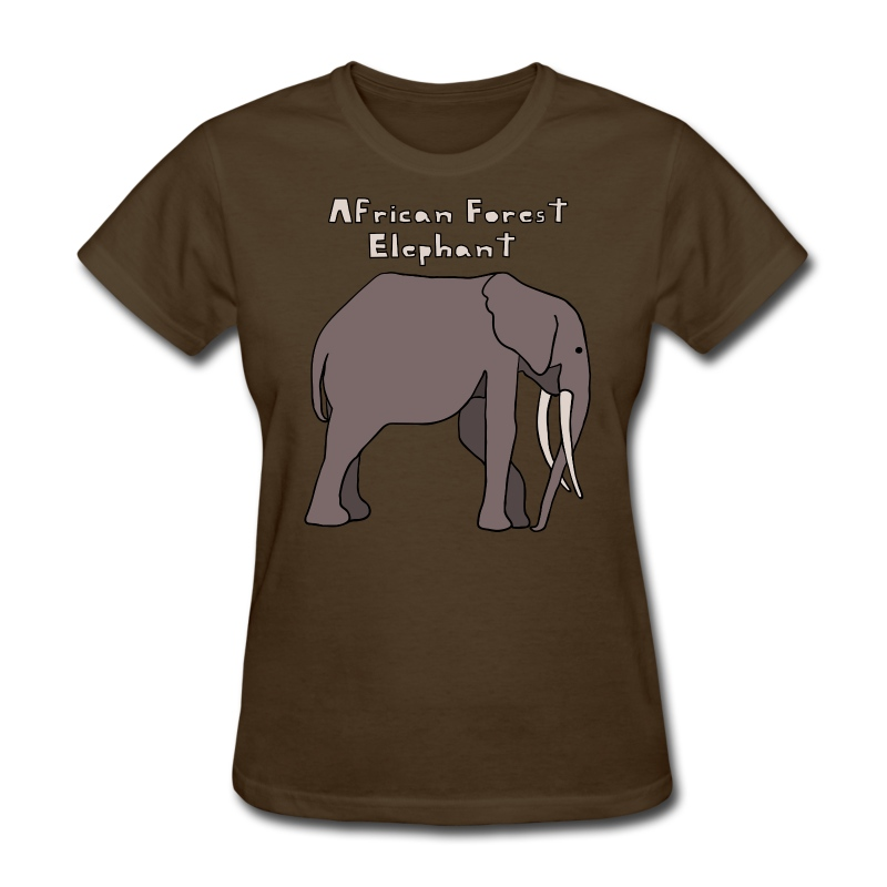 African forest elephant t shirt spreadshirt for Elephant t shirt women s