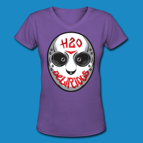Delirious Mask Womens V Neck - Women's V-Neck T-Shirt