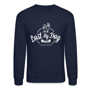 Men's Sweater - White 10 Year Logo - Crewneck Sweatshirt