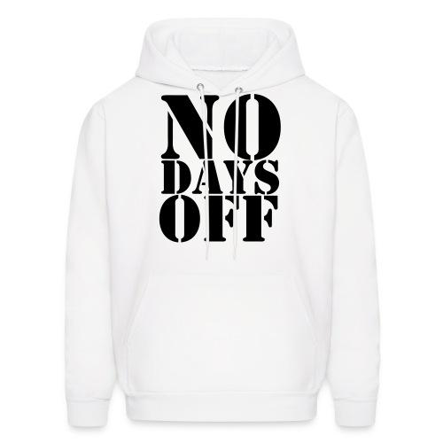 NO DAYS OFF Black velvet design - Men's Hoodie