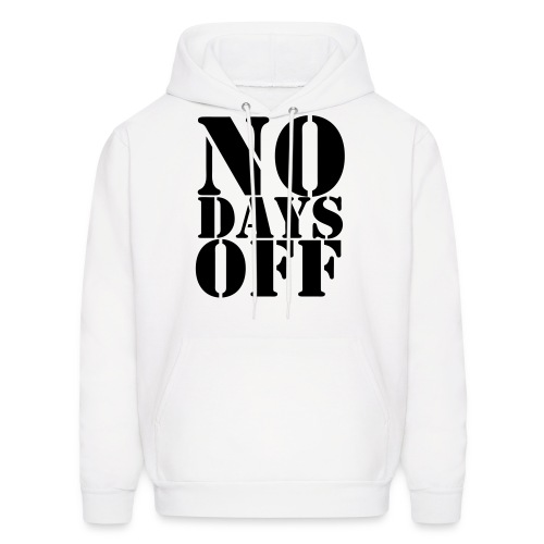 NO DAYS OFF Black velvet design - Men's Hoodie