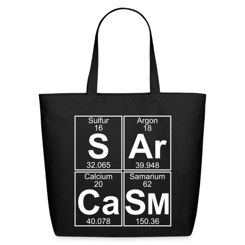 S-Ar-Ca-Sm (sarcasm) - Eco-Friendly Cotton Tote