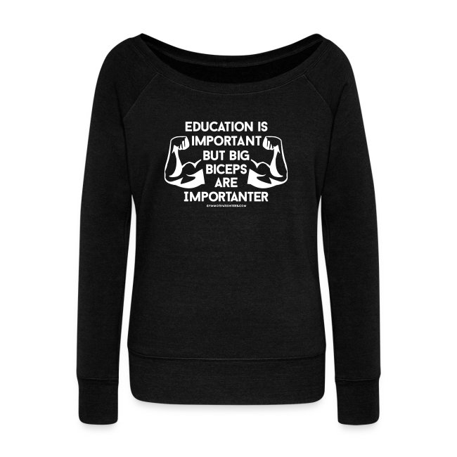 Big biceps are importanter | Womens Scoop neck jumper